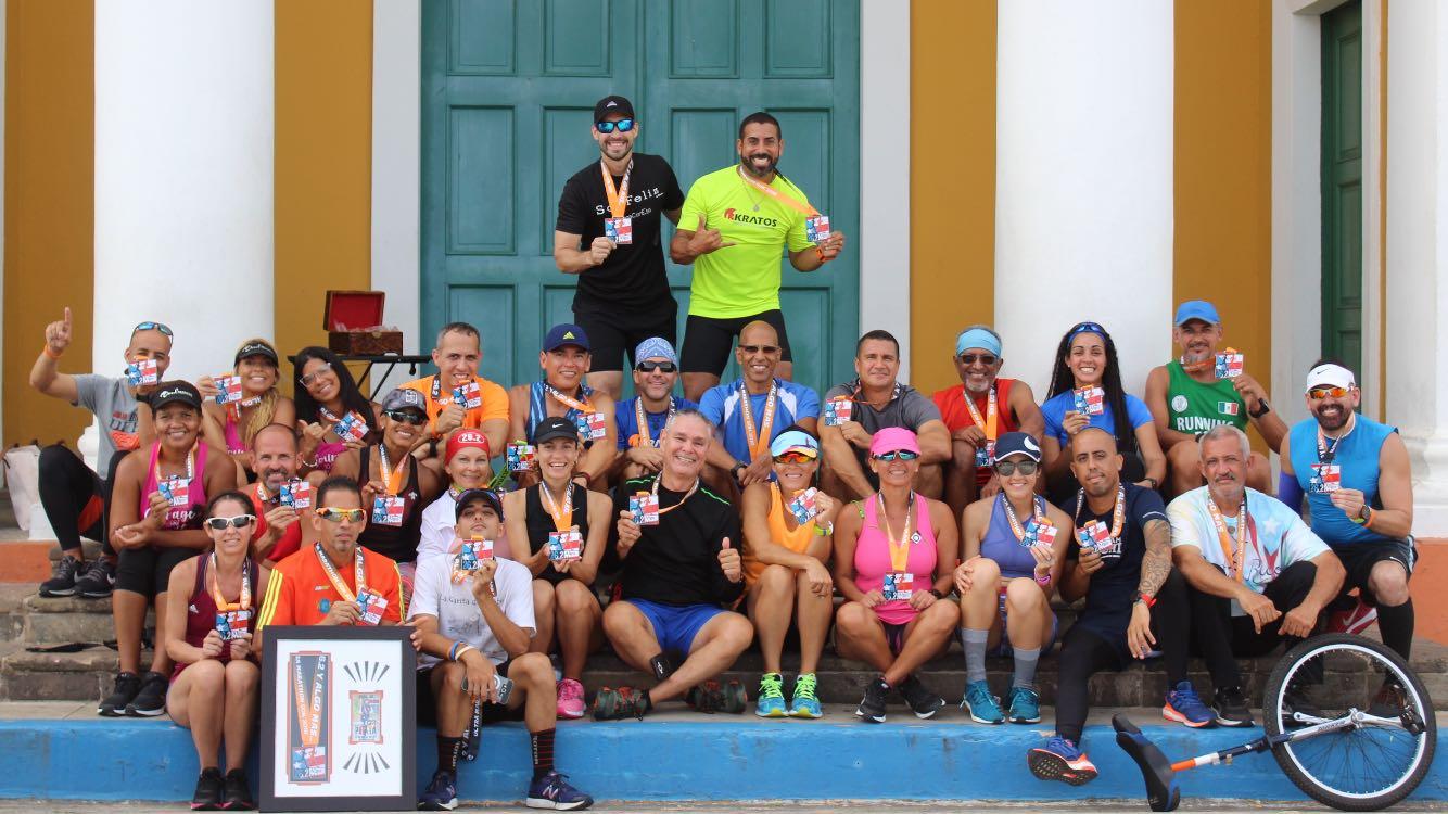 Ultramaratón - entrega de medallas