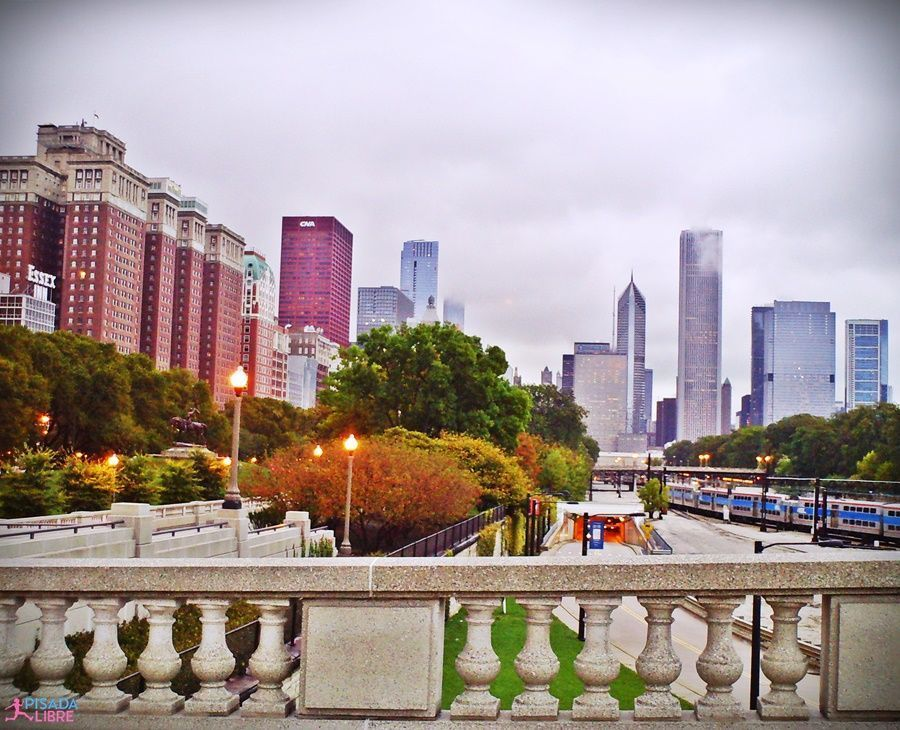 Paisaje frío Maratón Chicago
