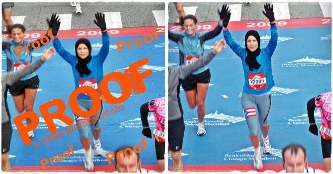 Fotografías de maratones: La muestra y la original comprada